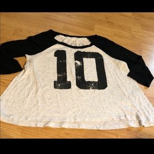 Victoria secret shirt m white / black